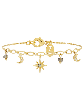 Gold Starry Charm Bracelet With Swarovski® Crystals by Accessorize