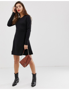 Pieces Wonder Long Sleeved Skater Dress by Pieces