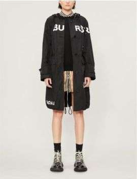 Horseferry Logo Print Shell Hooded Parka Jacket by Burberry