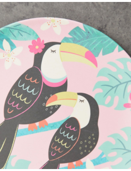 Sass &Amp; Belle Tiki Toucan Bamboo Plate by Sass & Belle