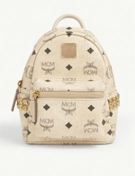 Stark Visetos Micro Canvas Backpack by Mcm
