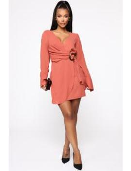 Dealing With Nonsense Mini Dress   Marsala by Fashion Nova