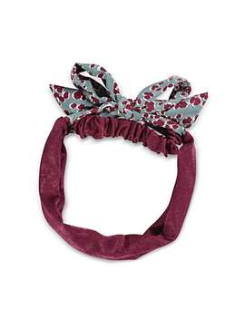 Kimani Purple Leopard Print Tie Headband by Olivar Bonas