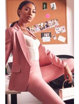 Chloe Slim Blazer   Mauve by Fashion Nova