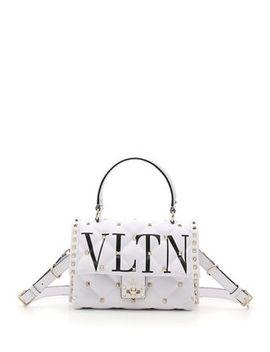 Valentino Garavani Vltn Spike Medium Top Handle Shoulder Bag by Valentino Garavani