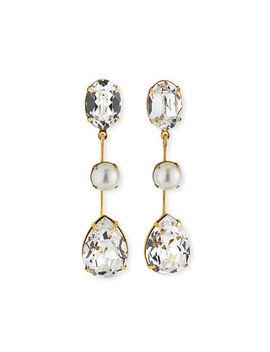 Jennifer Behr Allanah Crystal & Pearly Drop Earrings by Jennifer Behr