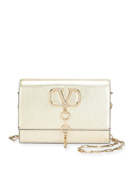 Valentino Garavani V Case Small Metallic Leather Shoulder Bag by Valentino Garavani