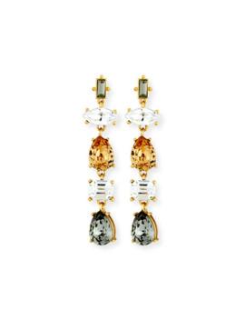 Sequin Five Drop Crystal Earrings by Sequin