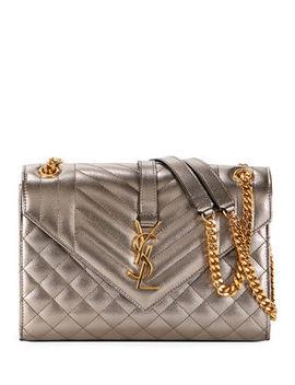 Saint Laurent Medium Ysl Monogram Metallic Shoulder Bag by Saint Laurent