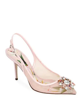 Dolce & Gabbana Rosa Lilium Slingback Pumps by Dolce & Gabbana