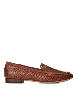 Claire Leather Smoking Slipper by Ralph Lauren