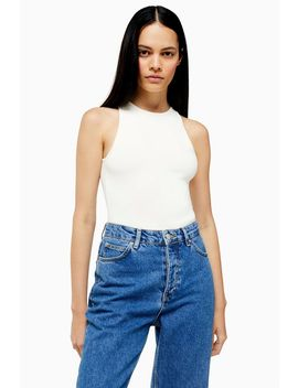 **Knitted Keyhole Bodysuit By Topshop Boutique by Topshop