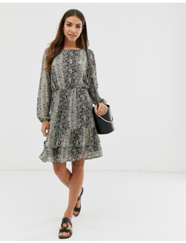 B.Young Snake Print Dress by Asos