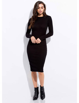 No Brainer Rib Knit Midi Dress by Go Jane