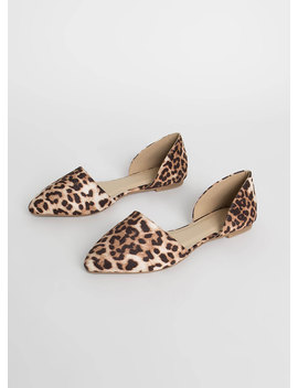 Living In Leopard D'orsay Flats by Go Jane