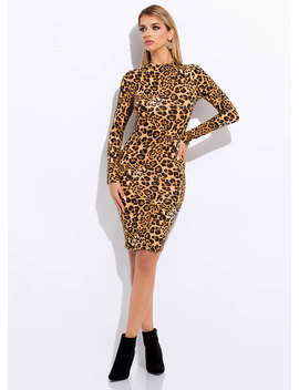 In My Wildest Dreams Leopard Midi Dress by Go Jane