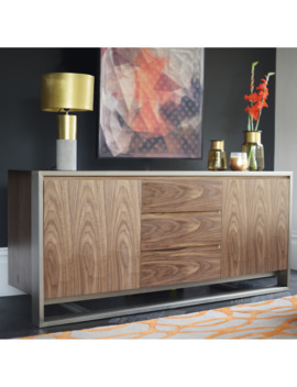 Nox Two Door Sideboard With Drawers Walnut by Dwell