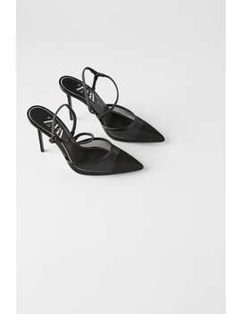 High Heel Shoes With Mesh Shoes by Zara
