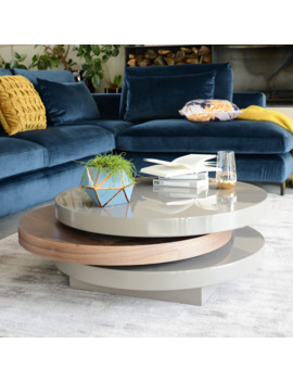 Triplo Coffee Table Stone And Walnut by Dwell