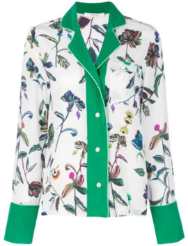 Botanical Print Pajama Shirt by Derek Lam 10 Crosby