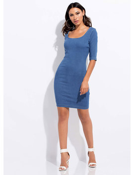 Casual Relationship Denim Midi Dress by Go Jane