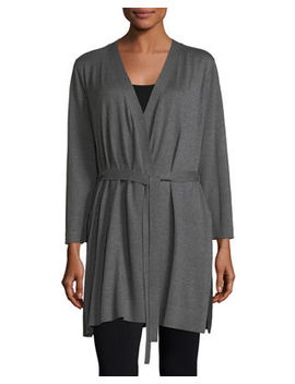 Belted Simple Cardigan by Eileen Fisher