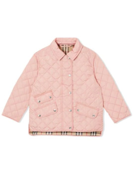 Diamond Quilted Jacket by Burberry Kids