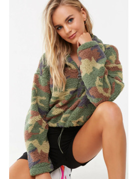 Sherpa Camo Pullover by Forever 21