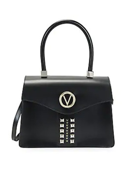 Melanie Embossed Leather Top Handle Satchel by Valentino By Mario Valentino