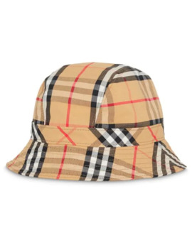 Vintage Check Cotton Bucket Hat by Burberry