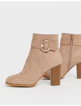 Asos Design – Relay – Braungraue Ankle Boots Mit Absatz by Asos