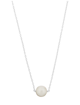Sterling Silver Freshwater Pearl Pendant Necklace by Accessorize