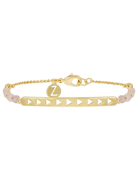 Healing Stones Semi Precious Rose Quartz Bracelet by Accessorize