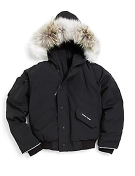 Kid's Fur Trim Down Bomber Jacket by Canada Goose