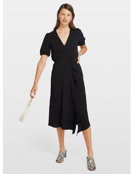 Black Frill Midi Dress by Miss Selfridge