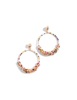 Beaded Front Hoops by Kenneth Jay Lane