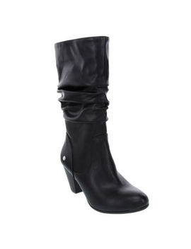 Gloria Vanderbilt Womens Graham Stacked Heel Slouch Pull On Dress Boots by Gloria Vanderbilt