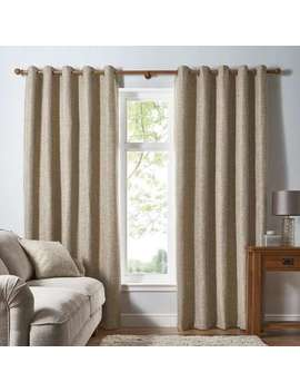 Thornton Ochre Eyelet Curtains by Dunelm