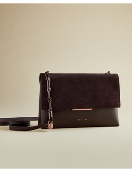 Small Suede Flap Cross Body Bag by Ted Baker