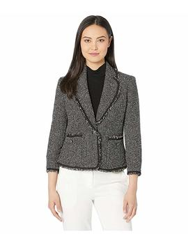 Patch Pocket Collar Jacket by Anne Klein