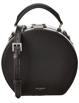 Saint Laurent Small Mica Hatbox Leather Shoulder Bag by Saint Laurent
