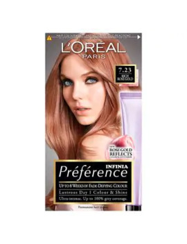 Preference 7.23 Rose Gold Blonde Permanent Hair Dye by Superdrug