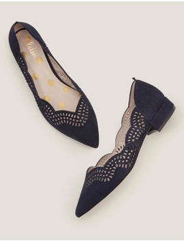 Esme Low Heels   Navy by Boden