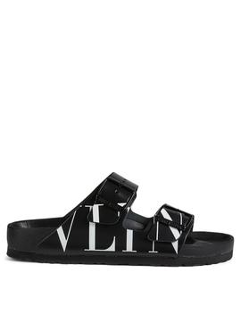 Vltn Leather Birkenstock Slide Sandals by Holt Renfrew
