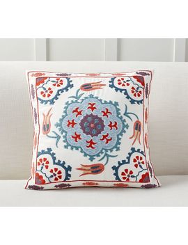 Ezio Embroidered Pillow Cover by Pottery Barn