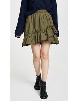Ruffle Miniskirt by Goen.J