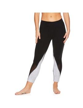 Women's Gaiam Karma Mesh Capri Yoga Leggings by Gaiam