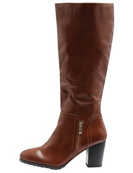 Lady Side Zip Mid Heel High Leg Boot by New