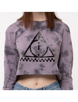 Womens Vans X Harry Potter Deathly Hallows Cropped Long Sleeve Tee by Vans