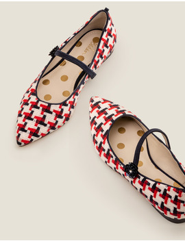 Hallie Embellished Flats   Navy/Red Windmill by Boden